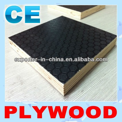 one side antiskid film faced plywood/antislip plywood for floor and construction