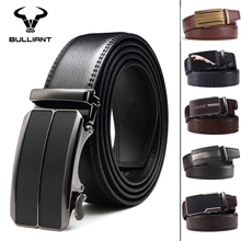 Automatic Ratchet Mens Leather Belt For Belt Buckle A001BL