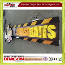 Modern street furniture aluminium taxi top advertising light box