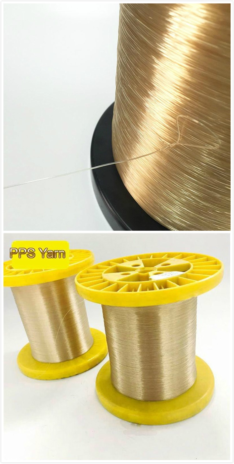 0.20mm High Temperature Resistant Flame Retardant Feature thread PPS monofilament yarn