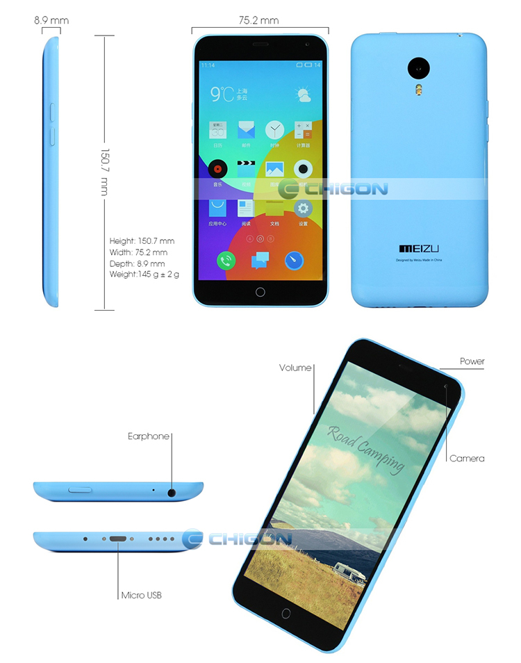 [EU Warehouse Duty-Free] Original Meizu M1Note MT6752 Octa Core 4G FDD LTE Dual SIM Phone i version
