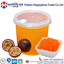 New! Passion Fruit Popping boba with Certificates HACCP, QS, ISO