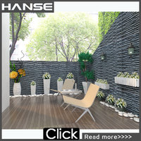 HS-SJ002 nature wall stone strips textured slate wall tile adhesive