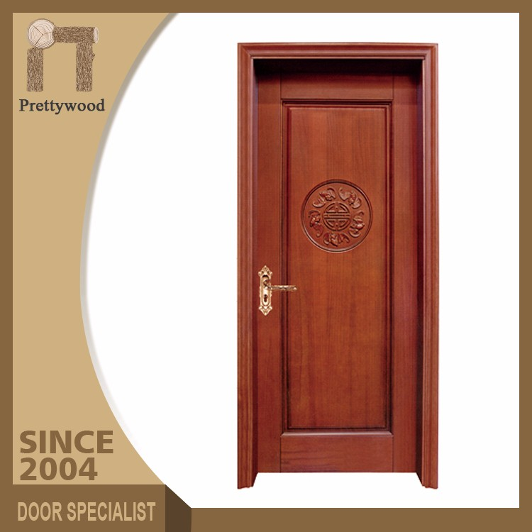 Soundproof White Colour House Elegant Wood Interior Doors