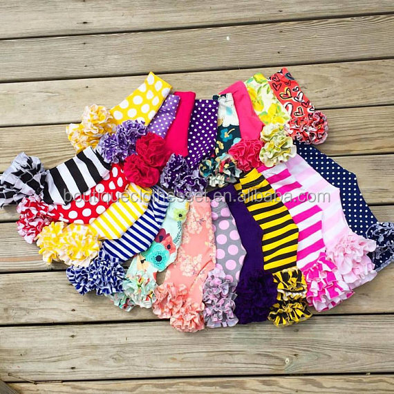 2017 New arrival ruffle icing legging boutique little girls soft cotton legging for winter knit cotton icing pant