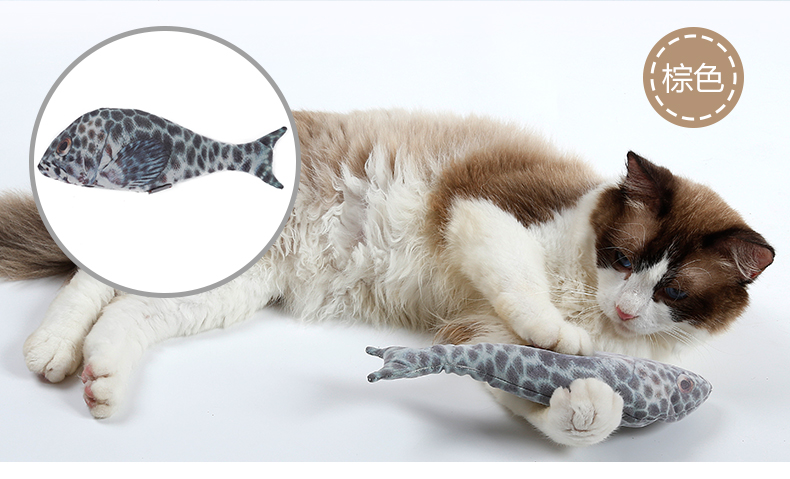 Fish Cat Toys Interactive Chewing toys Refilling Catnip Toys Simulation Plush for Cat/Kitty/Kitten