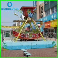 outdoor park hot electric kids and family swing amusement mini pirate ship ride