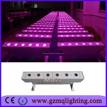 American DJ 6x18w 6 in 1 DMX Aluminium indoor led wall washer lights DMX wireless party lighting