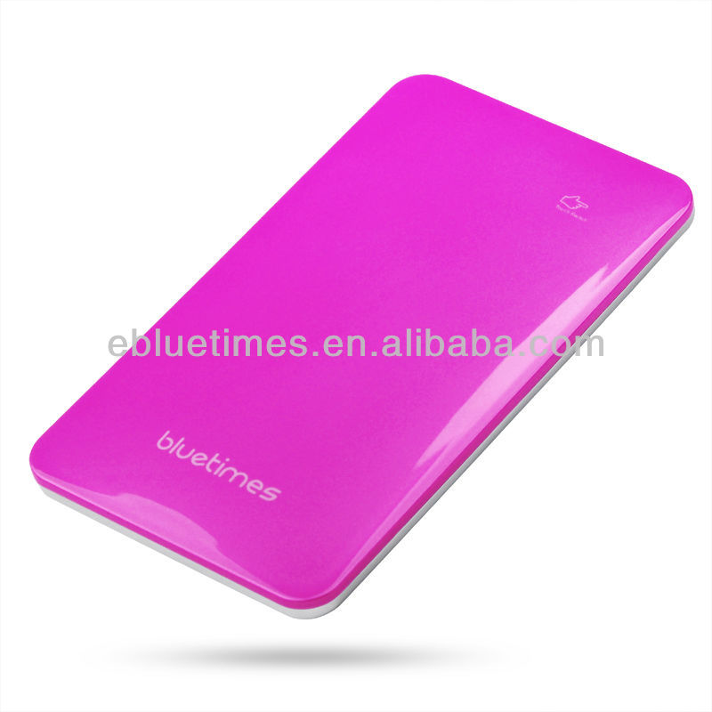 Decent appearance universal charger portable super thin power bank