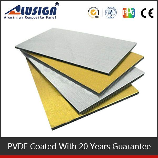 Alusign Aluminum Composite Panel PE coating heat resistant kitchen wall panels