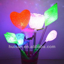 Led eva flower decoration/ led glowing stick/ colorful changing led eva Flower