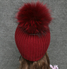 Cheap and high quality sweet knitting pattern raccoon hat for girls