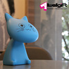 hot sale blue kitten cat charging foldable table desk lamp for office school home decoration