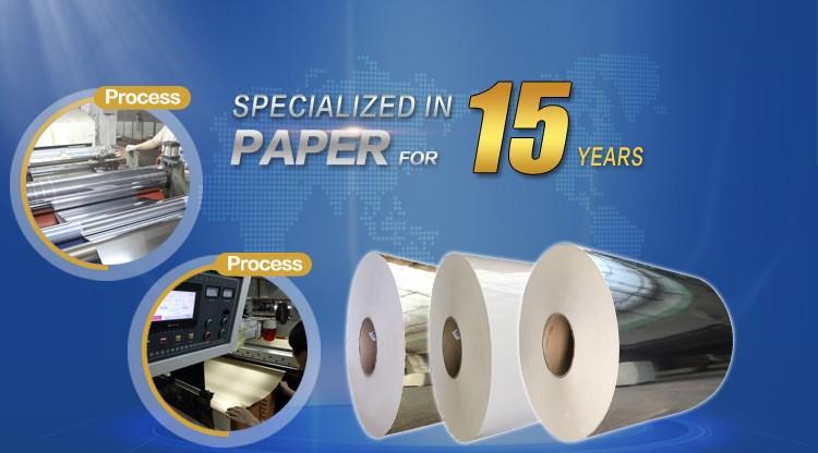 Golden metallized paper