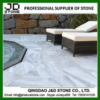swimming pool tiles/ sandblasted cloud grey marble tiles/ pool coping marble tile