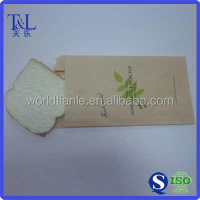 Bread paper bag with window, toast paper bag with window