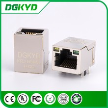 China Supplier Metal Shield 100 Base-TX network Jack Cat5 RJ45 female Connector