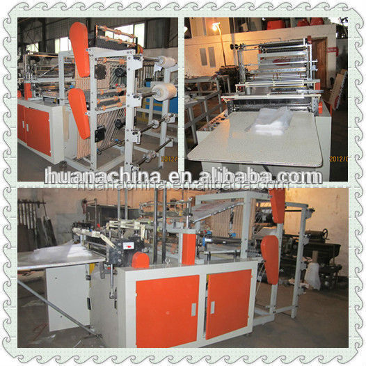 Focus on gift wrapping Photoelectric tracking Frequency square bottom plastic bag making machine