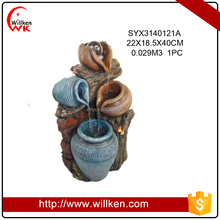Large size Resin outdoor fountains in jar shape