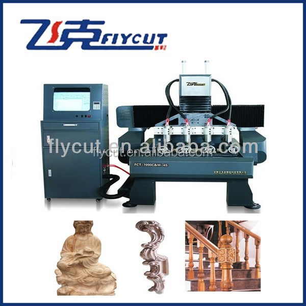 iron cast Frame 3D cnc engraving machine ,XZ axis with ball screw linear slider CNC router