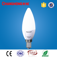 changhong redsun three-section dimmable candle type bulb lights LED