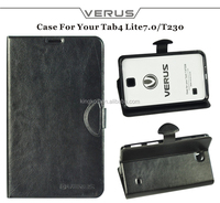 "Good prices flip leather cover for samsung galaxy tab 4 sm-t230 7"" inch"