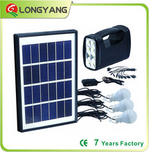 Solar energy product portable solar light 5W solar panel 4AH lead acid battery for solar camping light