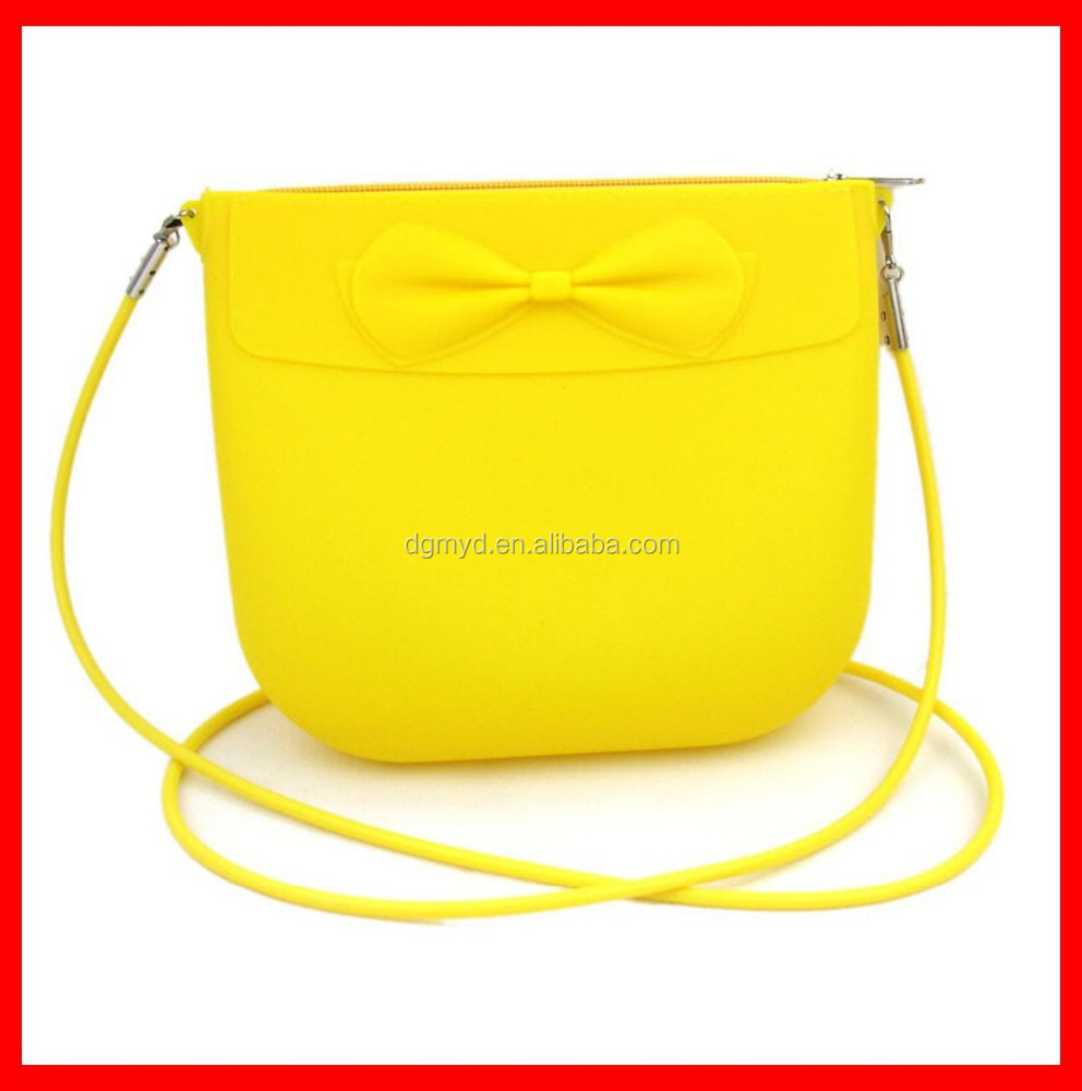 Colorful charming plain silicone shoulder bag for giftware