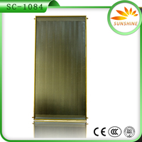 2016 NEWEST Flat panel Pressurized Heat Pipe copper Tube Solar Water Heater Collector