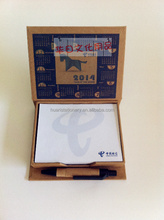 Desk calendar with custom logo memo pad