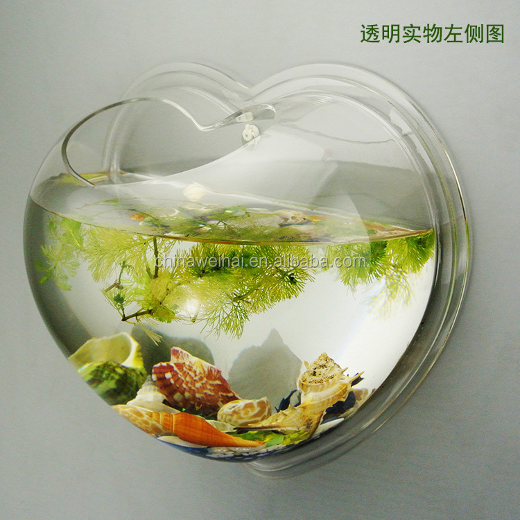 Heart Shaped Acrylic Fish Tank
