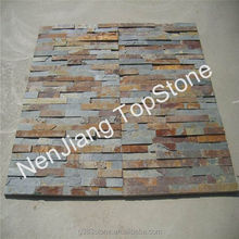 slate stones for walls lining, brown slate tiles
