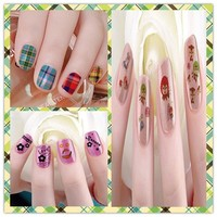2015 beauty Christmas gift WHOLESALE design on nails decorated