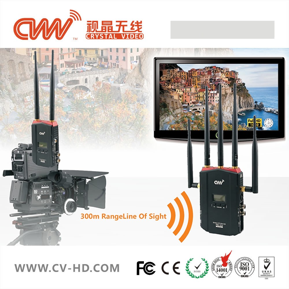 No delay SDI wireless video transmitter for broadcast
