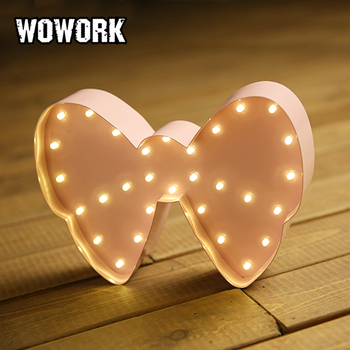 battery led mini bow knot marquee lights for decoration