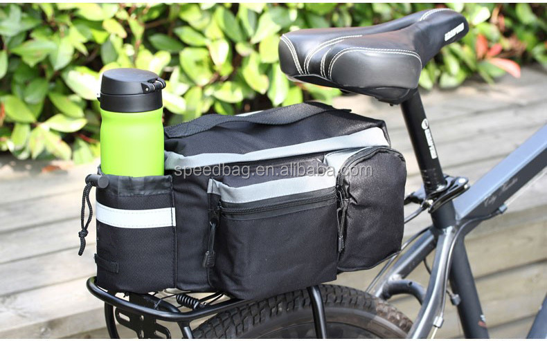 Bicycle Carrier Bag 13L Rack Trunk Bike Luggage Back Seat Pannier Outdoor Cycling Storage Handbag Shoulder Strip