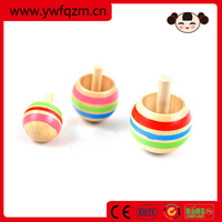 Promotional cheap wooden spinning top