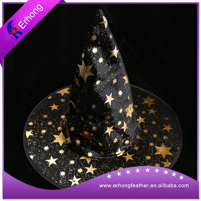 Halloween witch hat gold star