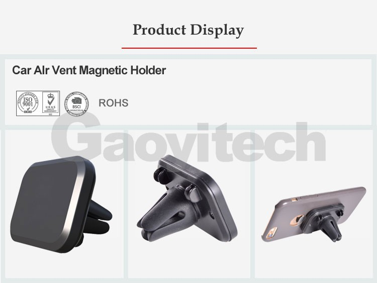 2017 hot sale car smartphone accessories air vent mount magnetic holder