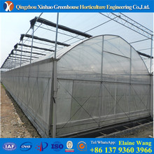 Clearly greenhouse film fastening