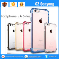 High quality Soft TPU Transparent Clear Colourful Phone Case For Iphone 6