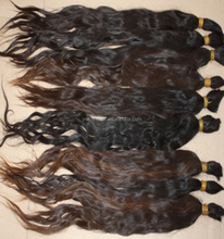 High quality black indian virgin remy wet n wavy human hair bulk