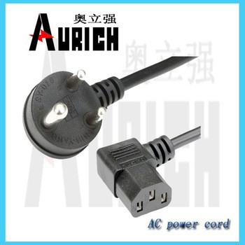 European standard ac power cord for 220v~250v with model plug, European 2 Pins AC Power Cord with Connector (AL-151+AL-117)
