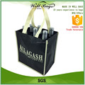 custom white black non woven fabric recyclable gift 6 body bottles wine hand bag alibaba trade assurance
