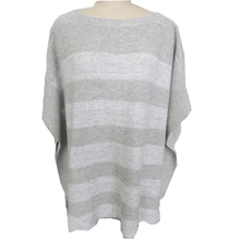 Wool Cashmere Jumper Stripe Pattern Custom Knit Poncho Ladies Sweater
