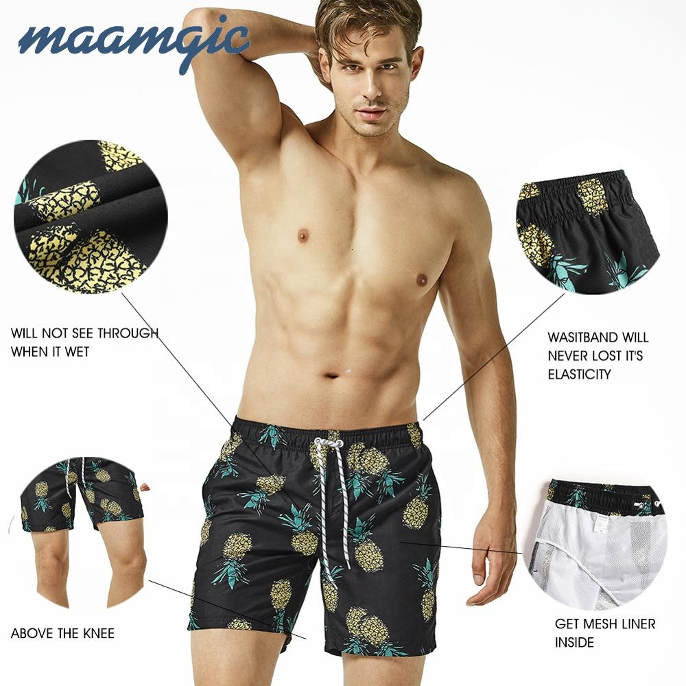 Mens Camouflage Lined Swimming Board Shorts Trunks Beach Summer Adults Swimwear