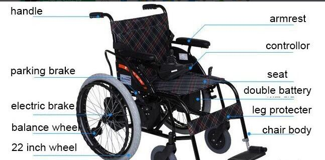cheapest folding power electric wheelchair for disabled people