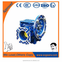 Low noise Aluminum housing 12v 24v right angle gear motor gearbox