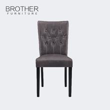 Luxury home furniture modern black leather dining chair