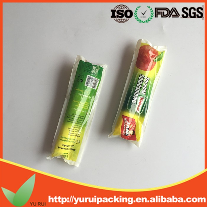 2016 simple clear plastic bags on the roll for fruit package with beautiful package from china